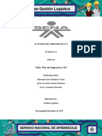 ACTIVIDAD 13.3 Evidencia 3 Taller Plan de Integracion y TIC