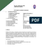 054e Syllabus de Farmacologia II 2018 i