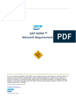 SAP HANA Network Requirements
