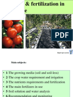 Irrigation and Fertilization in Greenhouse Gallil09