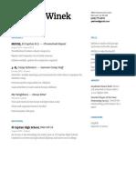 quinton winek - resume