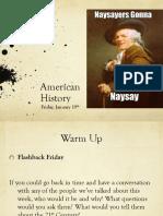 fri jan 19 american history
