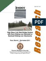 High Skew Link Slab Bridge System
