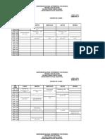 UNEXPO VRP Horarios Asignaturas Ing. Industrial Lapso 2018-1