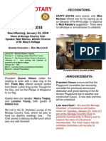 Moraga Rotary Newsletter January 16 2018