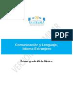 02 Comunicación y Lenguaje Idioma Extranjero Primero Básico