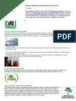 Instituciones y Organizaciones Dedicadas Al Cuidado Del Medio Ambiente en Guatemala