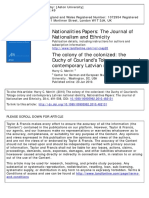 Nationalities Papers Volume 38 Issue 4 2010 Merritt, Harry C. -- The Colony of the Colonized- The Duchy of Courland's Tobago Colony and Contemporary Latvian Nation