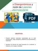 Riesgos Disergonómicos y Prevención de Lesiones Osteomusculares