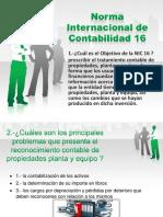 NIC 16 PROPIEDADES PLANTA Y EQUIPO 16 PREGUNTAS