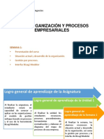 Unidad 1 - Semana 1 - Organización y Procesos Empresariales