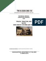 TM-9-2320-360-10 Operators Manual M1070 Truck Tractor 8x8