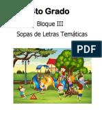 SOPA DE LETRAS PARA 4o GRADO BIMESTRE 3