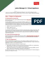 RSA AM Virtual Appliance Getting Started