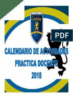 Calendario Practica 2018