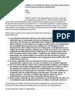 Propuesta de La Comisión de AGAFF y de La CONAA Del Informe Del Auditor Independiente y Del Informe Sobre La Revisión de La Situación Fiscal Del Contribuyente