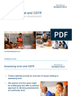 Assessing Level and CEFR TEv8
