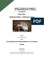 El Principio de Oprotunidad en El Proceso Penal