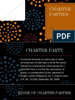 Transpo Chapter 14 Charter Parties