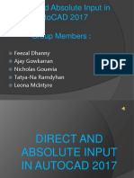 Direct and Absolute Input in AutoCAD 2017