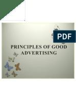 Principles of Good Advertising