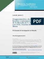 Leonetti, Ignacio - Fragmentación y Decadencia Del Hombre Contemporáneo