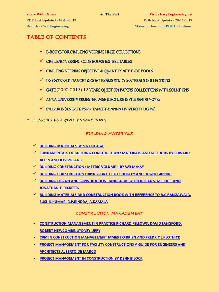 Civil engineering materials lecture notes pdf