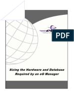 Sizing the Hardware and Database Required by an EG Manager