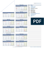 Calendario Uruguay 2018