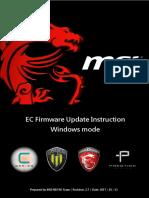EC Firmware Update SOP for Windows En