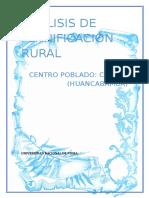 Análisis de Planificación Rural