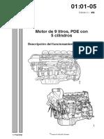 Motor de 9 Litros, PDE Con 5 Cilindros