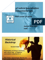 Hima Kohli - Evolution of Judicial Specialization in Environmental Law