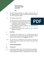 Agm 2009 Rules