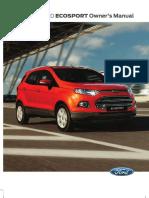 Ford Ecosport Manual