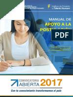 Manual Postulacion de Convocatoria Abierta Abierta 2017