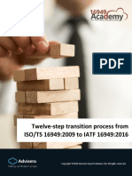 12 Steps to Transition From ISO TS 16949 to IATF 16949 En