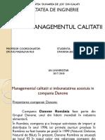 Prezentare Managementul Calitatii Boghian Florentina