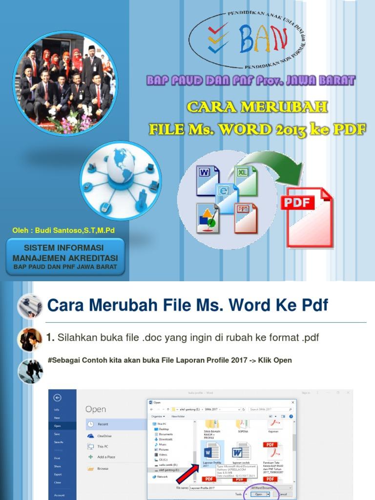 Merubah File Pdf Menjadi Word