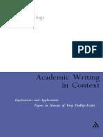 Naomi Ragen, Martin Hewings-Academic Writing in Context-University of Birmingham (2001)
