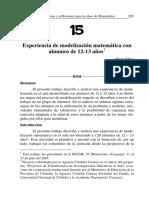 15 Experiencia de Modelización Matemática