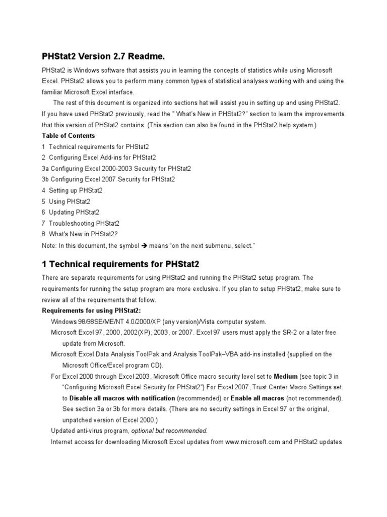 phstat2 installer