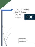 Reporte Del Convertidor Analogico a Digital