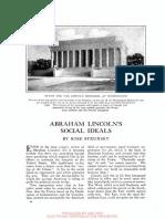 Abraham Lincoln's Social Ideals 1914