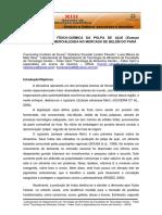 CARACTERIZAÇÃO FÍSICO-QUÍMICA DA POLPA DE AÇAÍ (Euterpe