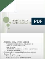 Pérdida de La Nacionalidad Española 2