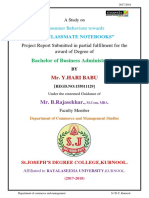 Project Report on classmate notebook  by Hari Babu