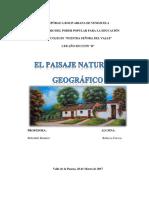 Trabajo Sobre El Paisaje Natural y El Paisaje Geografico