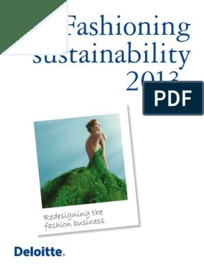 Deloitte Fashioning Sustainability 2013 | Sustainability | Supply Chain