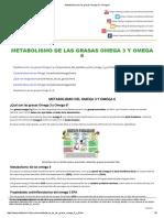 Metabolismo de Las Grasas Omega 3 y Omega 6